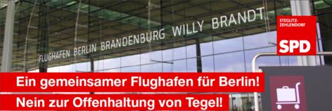 Die Offenhaltung Tegels schadet den Bürgerinnen und Bürgern in Steglitz-Zehlendorf
