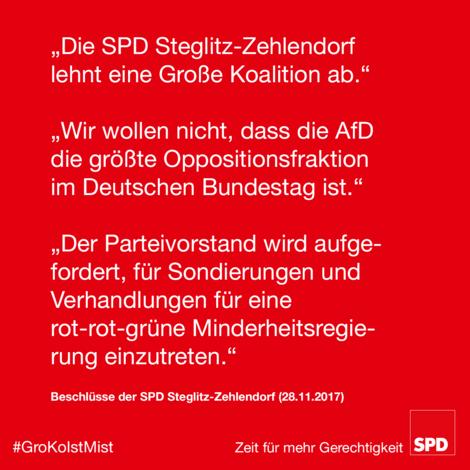 SPD Südwest spricht sich gegen eine Neuauflage der Großen Koalition aus